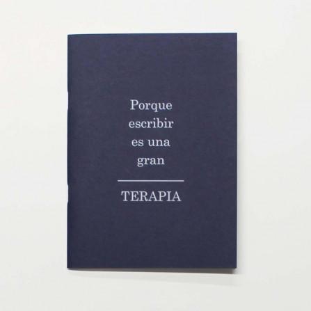 """Libreta  A5 """"Porque escribir""""  Azul"""