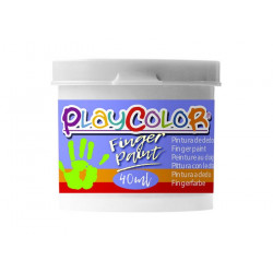PLAYCOLOR FINGER PAINT BASIC 40 ml. BLANCO (6)