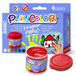 PLAYCOLOR FINGER PAINT BASIC 40 ml. (6 colores)