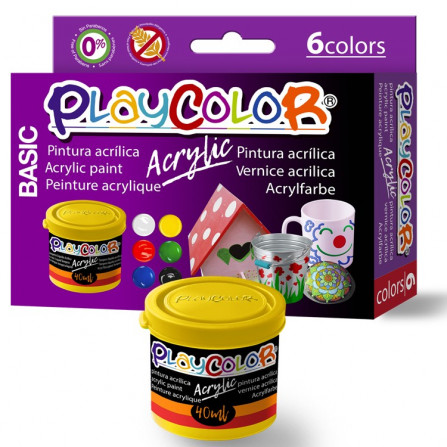 PLAYCOLOR ACRYLIC BASIC 40 ml. COLORES SURTIDO (6)